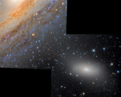 Stellar Bridge M110 to M31