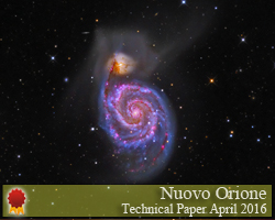M51 - The Whirlpool Galaxy - HII Area Enhanced