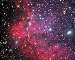 NGC7380 Open Star Cluster - Wizard Nebula